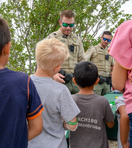 FWC is there to answer the kids' fishing questions and a lot of non-fishing questions.