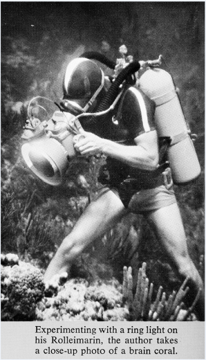 Jerry Greenberg has been diving and documenting the Florida Keys since the 1950s. He invented much of the diving and underwater photography equipment he used. Copyright © 1962 JERRY GREENBERG, All Rights Reserved.