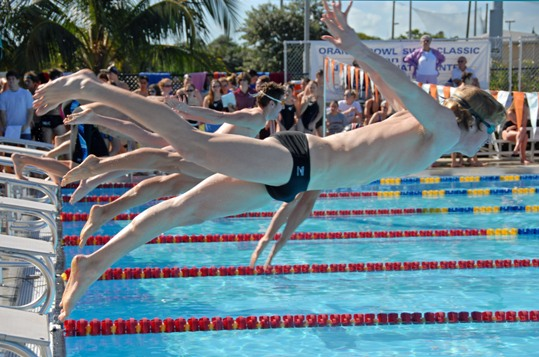College Athletes to Dive into Orange Bowl Swimming Classic in Key Largo
