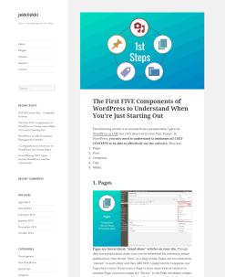 My WordPress teaching blog