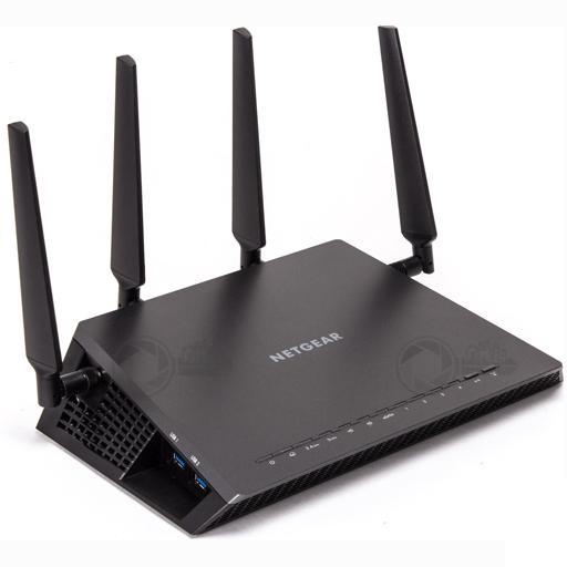 Netgear Nighthawk X4 AC2350 Dual Band WiFi Router voorzijde rechts
