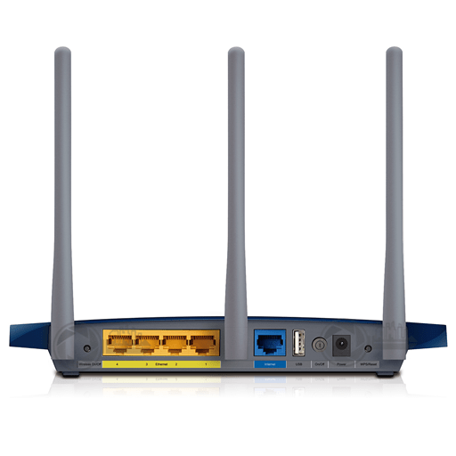 TP-Link Wireless N Gigabit Router TL-WR1043ND achterzijde