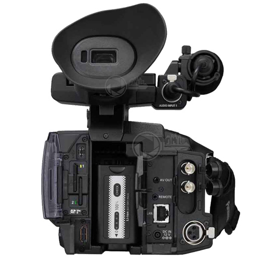 Keytown Rental Panasonic AG-CX350EJ achterzijde