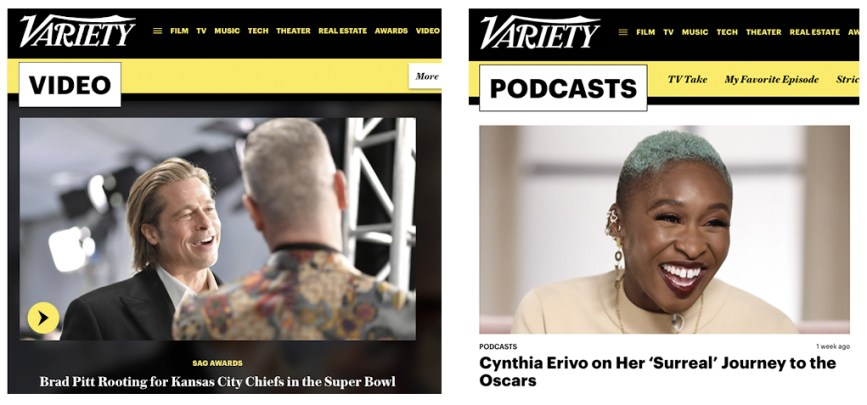 Variety's Video and Podcasts