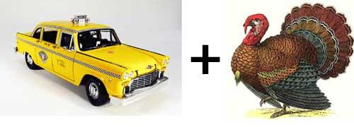 A turkey and ataxi