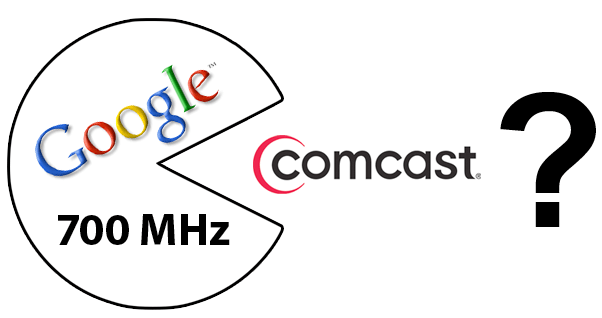 Could Google with a slice of the 700 MHz spectrum eat Comcast instead of mobileoperators?