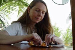 Professional chocolate taster Chloe DoutreRoussel