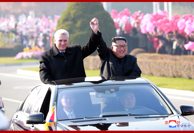 Presidente cubano llega a Pyongyang