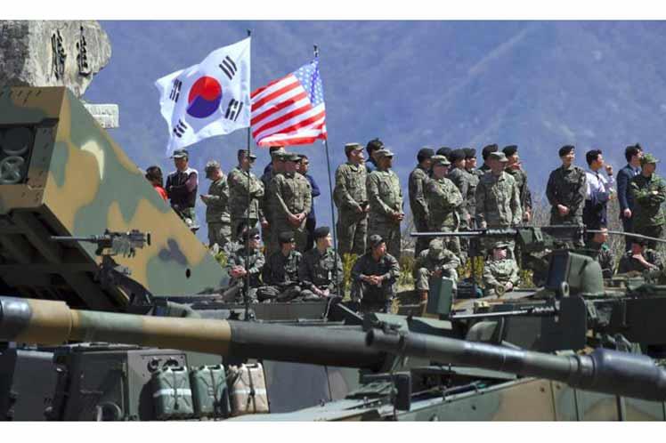 Carácter agresivo de ejercicios militares conjuntos EE.UU.-Sur de Corea