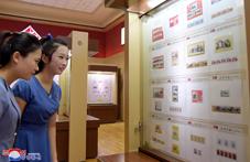 Exposición filatélica en Pyongyang