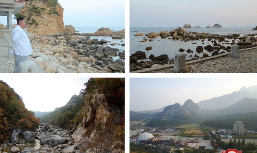 Máximo Dirigente recorre la zona turística de Kumgang.