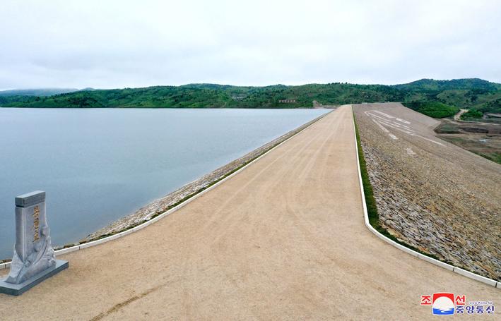Sistema de riego en Hwanghae del Sur.