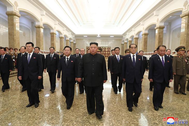 Visita del Máximo Dirigente al Palacio del Sol Kumsusan