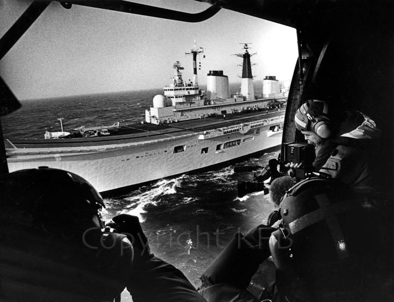 HMS ARK ROYAL ON HER WAY TO BOSNIA AROUND 1991