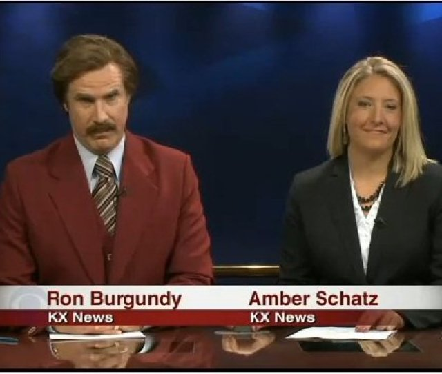 Stay Classy Nd Ron Burgundy Co Anchors Newscast