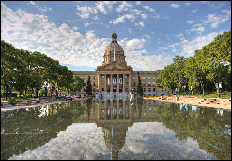 The Alberta Legislature in Edmonton