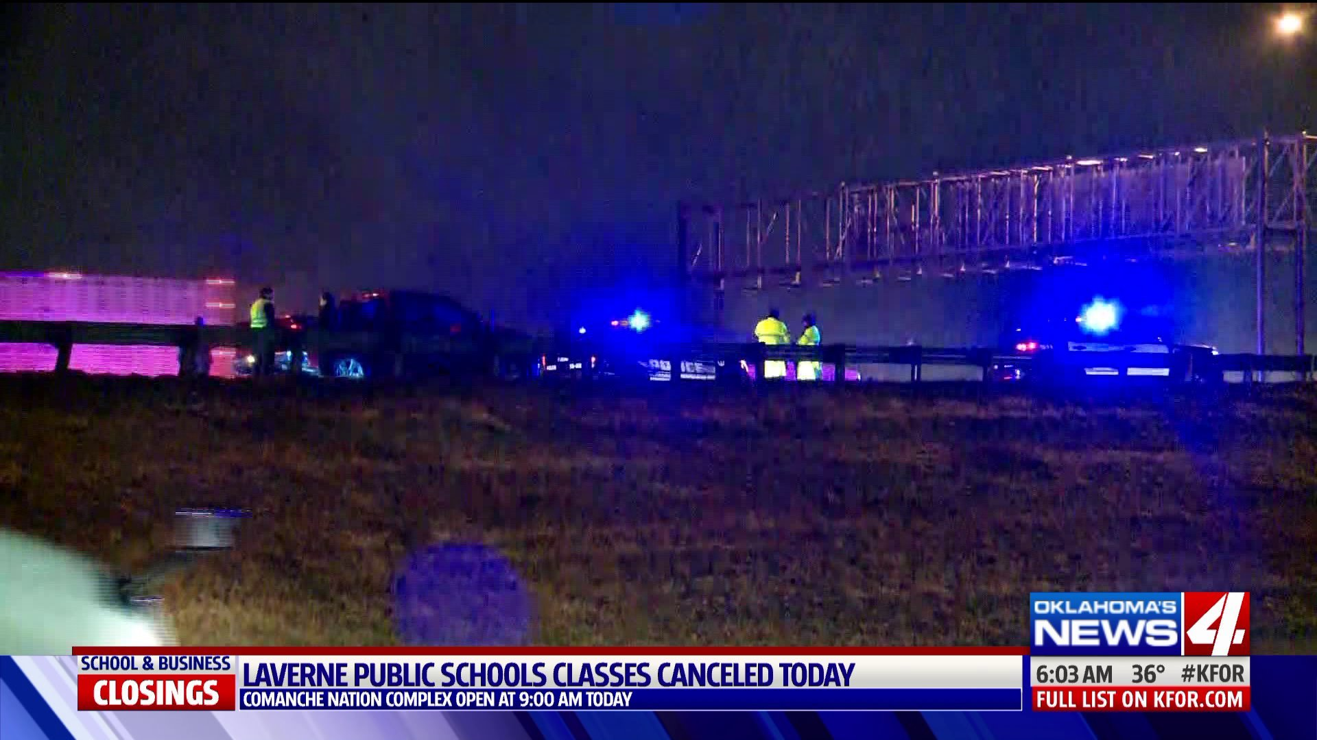 Deadly wreck along I-35 in Moore