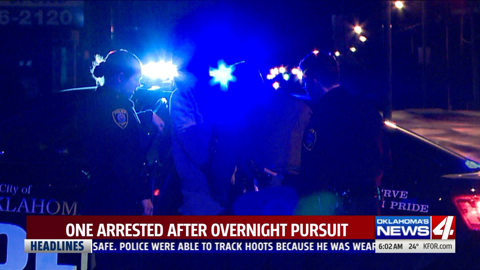 One arrested in overnight chase