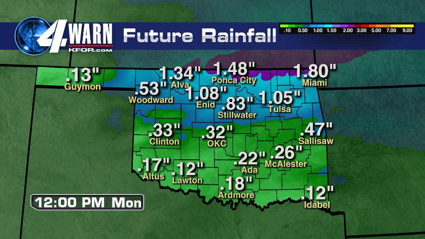 Sunday Rain Total Forecast