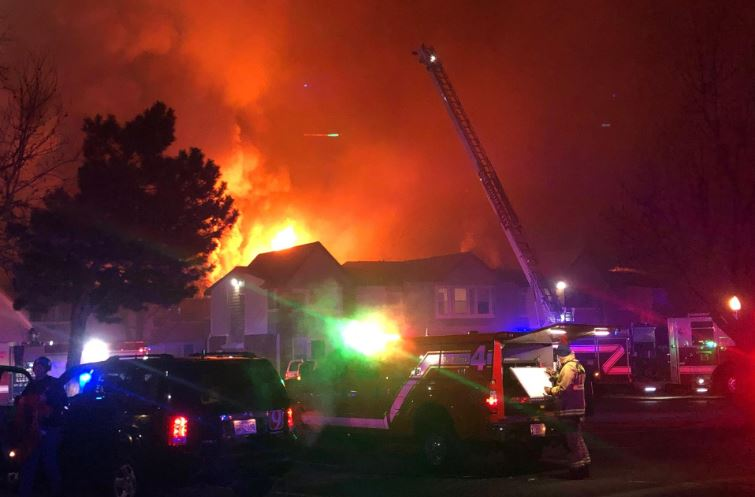 Crews battle N.W. OKC apartment fire.