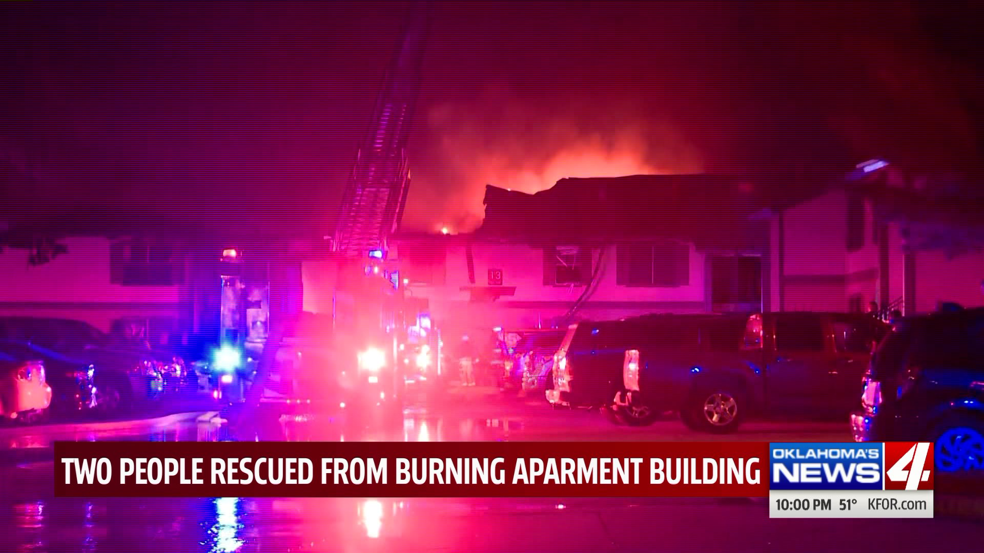 Two people rescued from apartment fire