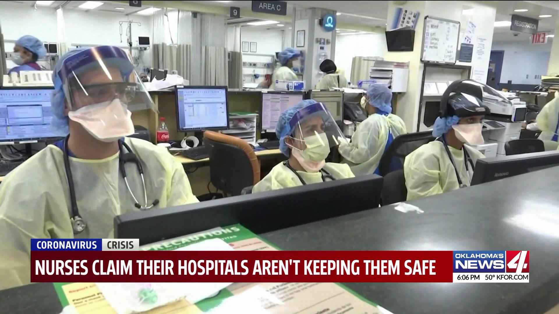 Doctors and nurses wearing ppe