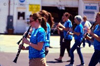 Allie playing her clarinet in the LMS marching band.