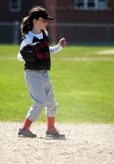 Riley using body language to encourage a play at 2nd.