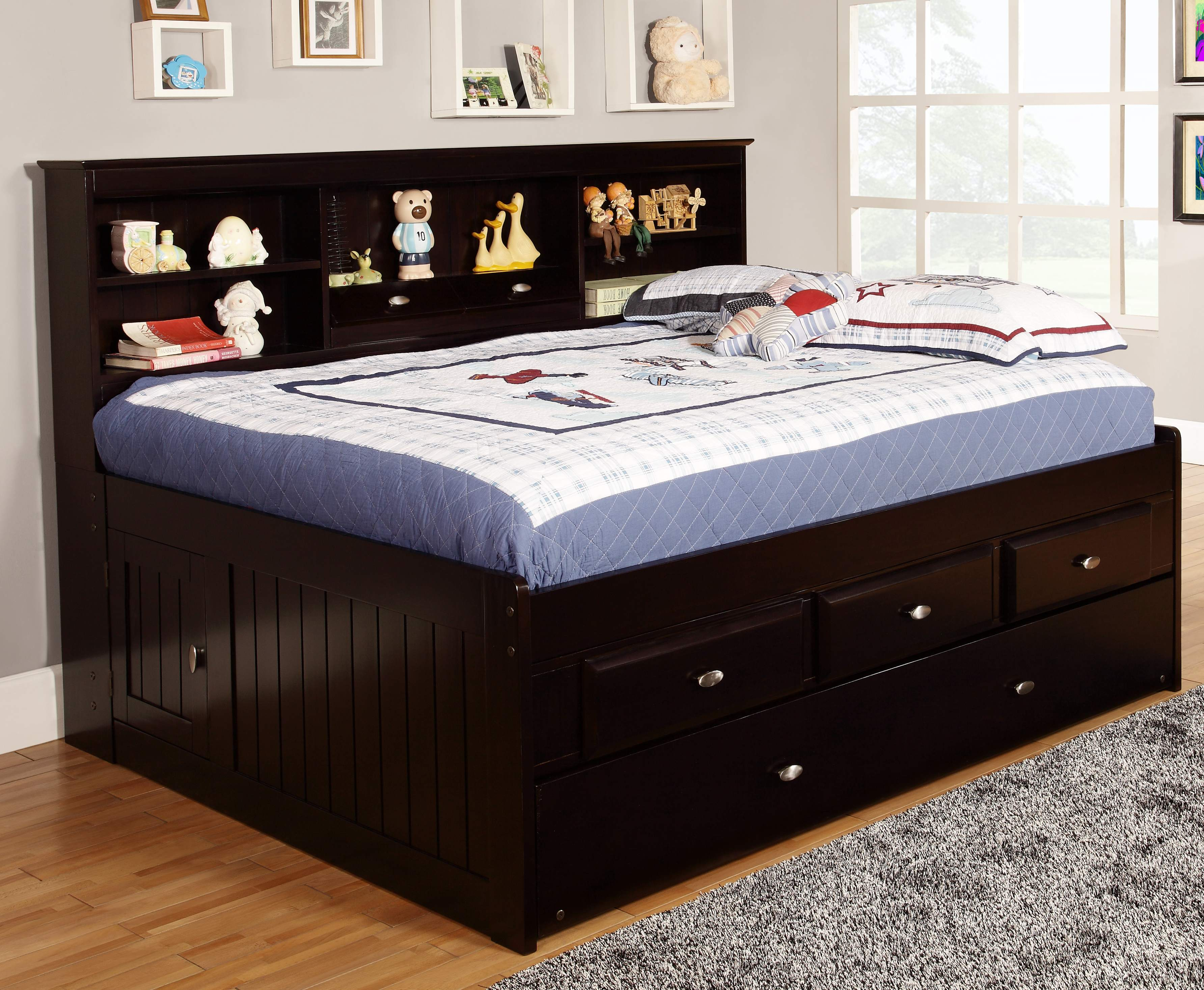 Discovery World Furniture Espresso Full Captain Day Beds Kfs Stores