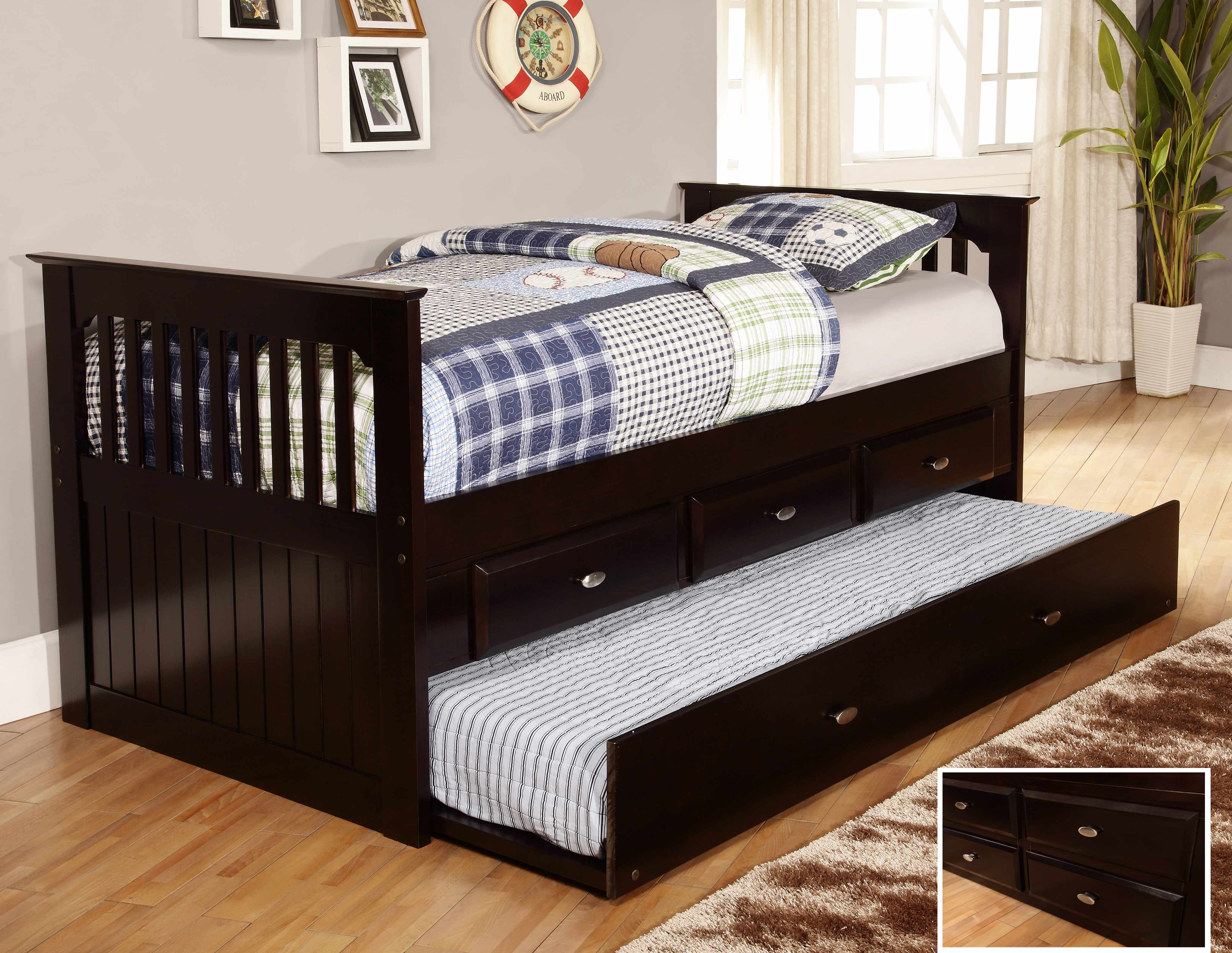 Discovery World Furniture Espresso Day Beds With Drawers