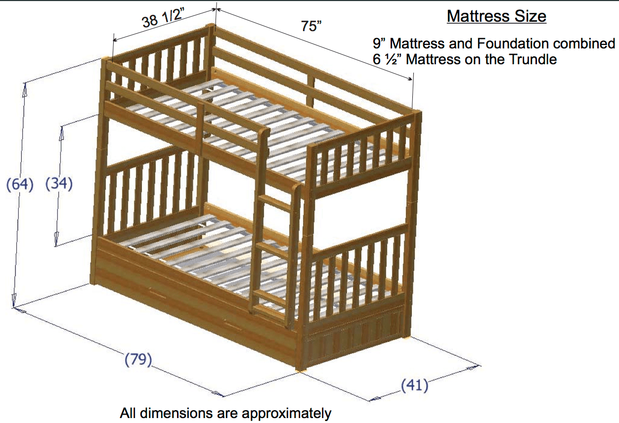 Discovery World Furniture Twin Over Twin Honey Mission Bunk Beds Kfs Stores