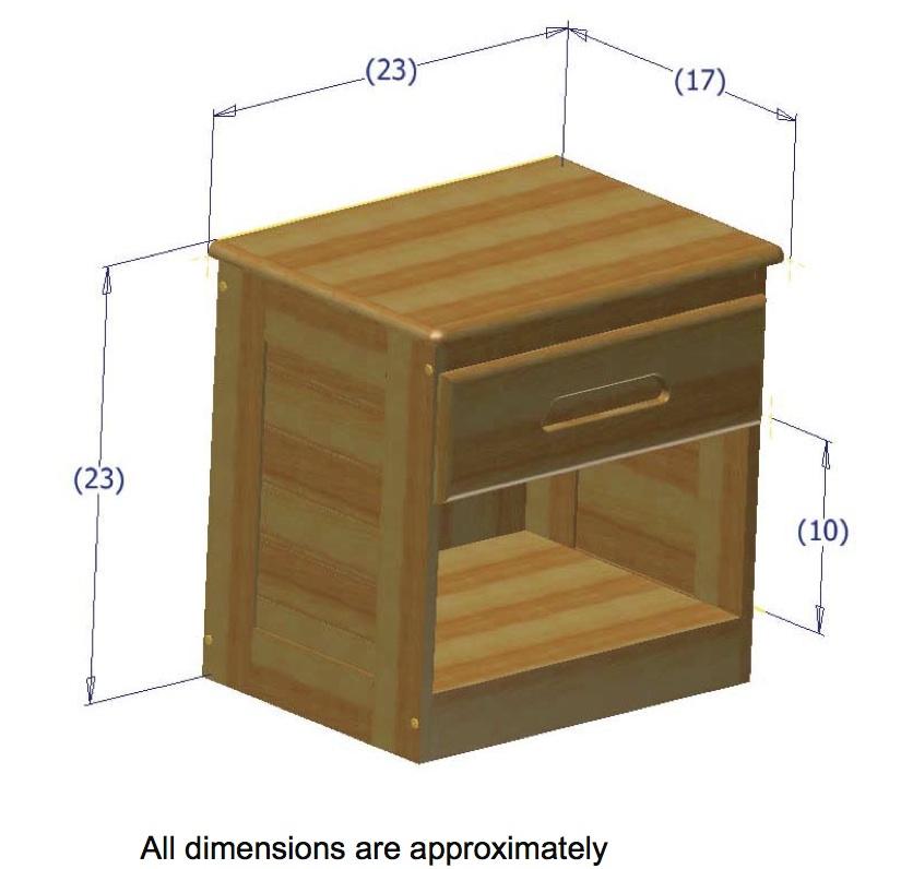 discovery world furniture merlot nightstand