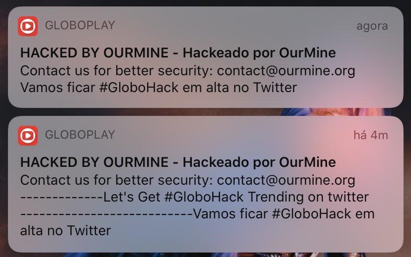 Usuários do Globoplay recebem notificação estranha e suspeitam de invasão hacker