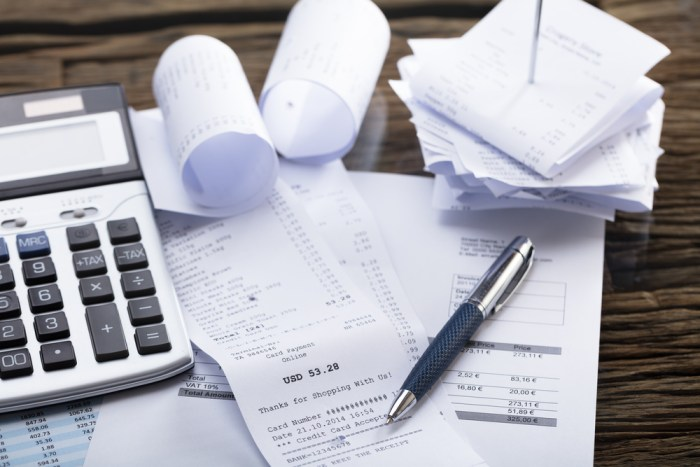 Receipts and Bills