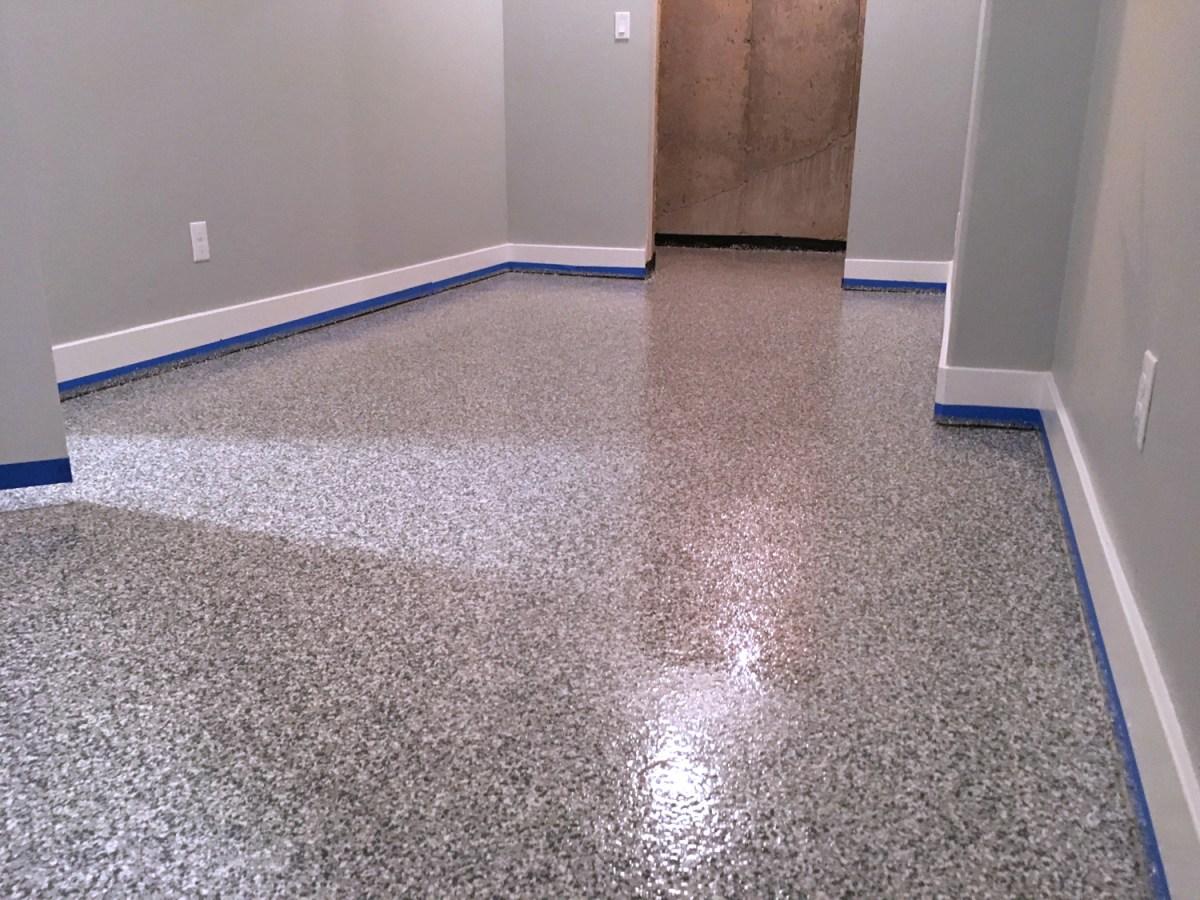 epoxy storage room floor full broadcast