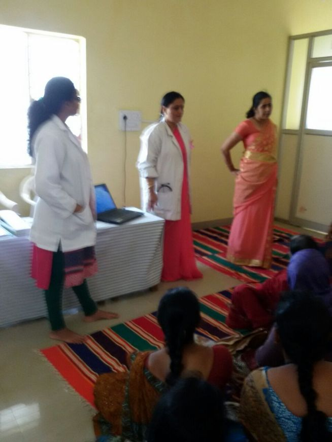 Dr.Preeti , Dr. Rajani , Dr.Aruna who  Organised the Camp Voluntarily