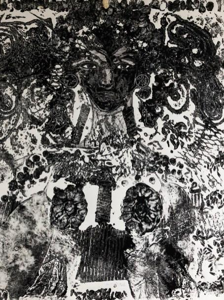 "Collagraph print 2007 14""x14"""