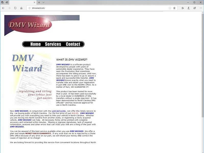 DMVWizard first website