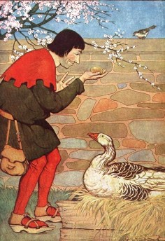 The Goose That Laid the Golden Eggs, illustrated by Milo Winter in a 1919 edition (Public Domain)