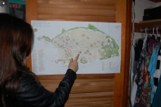 King explains the route she took while venturing through Pompeii, Italy.