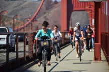 Cycling on the Golden Gate Bridge
