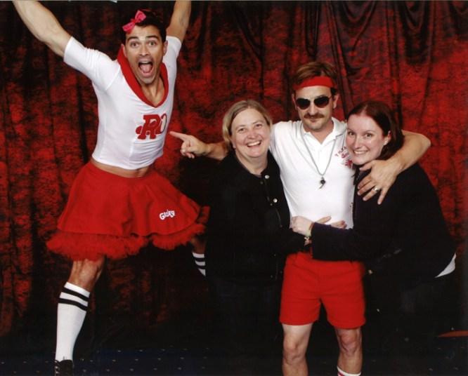 Karen & Megan with Karaoke Kings, Matt & Richard (Photo: Christopher Schmelke)