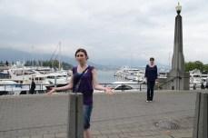 Rachel & Claire re-enacting the scene.