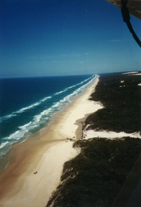 75-mile beach, which is also a highway & an airstrip