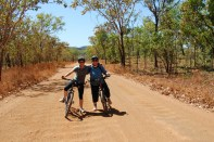 Mountain biking in Kakadu NP, Australia