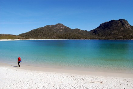 Hiking at Wineglass Bay, Tasmania