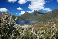 Hiking around Dove Lake at Cradle Mountain, Tasmania