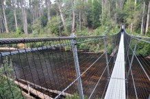 Picton River swinging bridge