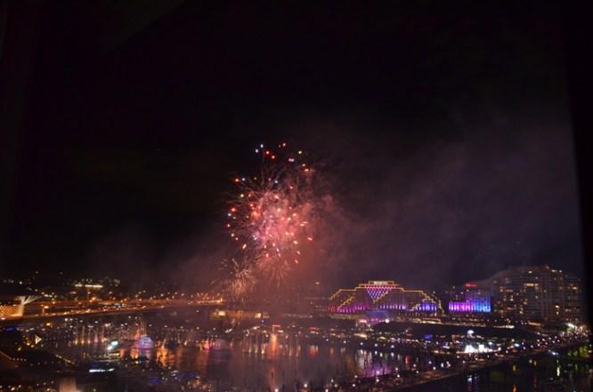 Fireworks over Darling Harbour