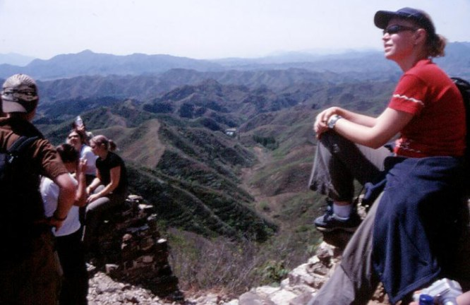 Having a break on the Great Wall